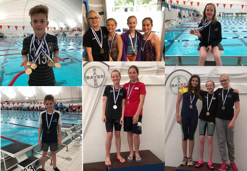 Verbandsmeisterschaften der Jahrgänge 2005-2008: 19 Medaillen für die Freien Schwimmer